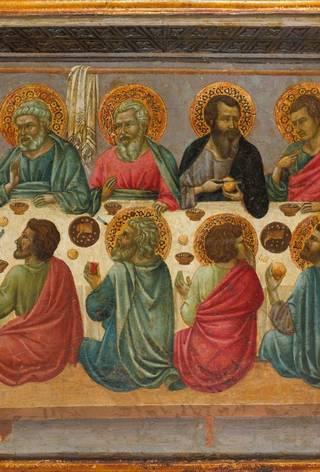Easter in Art Ugolino d Siena, The Last Supper, c. 1325ÔÇô30, The Met.jpg