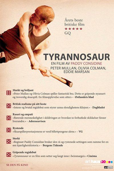 Tyrannosaur anmelder plakat