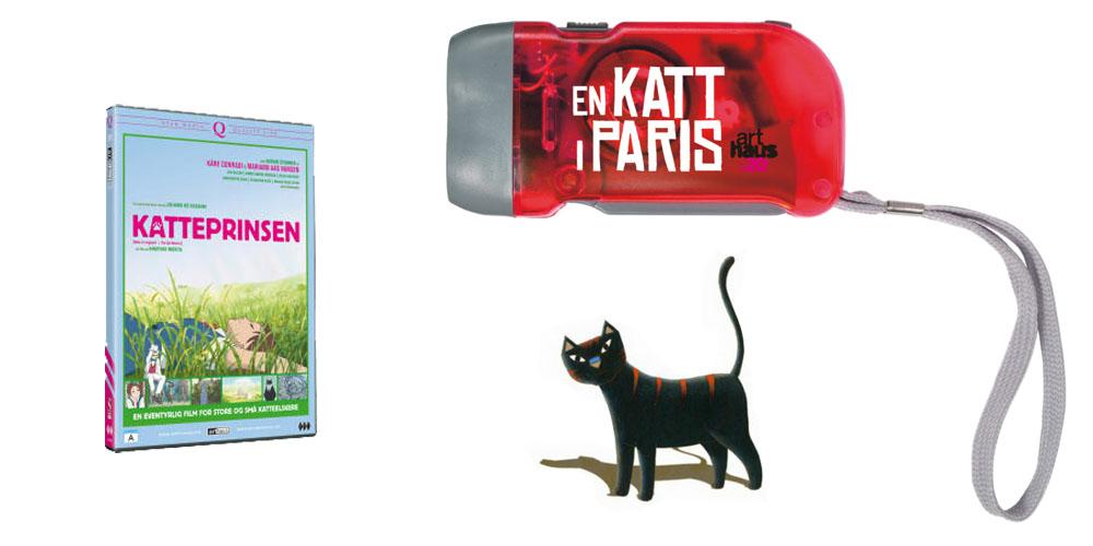 Katteprinsen DVD og oppladbar lommelykt