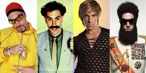 Karaktene til Sacha Baron Cohen: Ali G, Borat, Brüno og The Dictator
