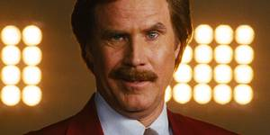 Will Ferrel som Ron Burgundy i Anchorman 2