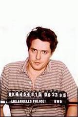Arrestasjonsfoto av Hugh Grant etter å ha hatt sex med prostituerte Devine Brown