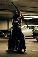 Laurence Fishburne som krigeren Morpheus i The Matrix Reloaded