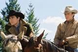 Cowboyene og elskerne Jack (Gyllenhaal) og Ennis (Ledger) fra Brokeback Mountain
