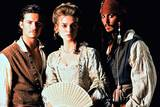 Orlando Bloom, Johnny Depp og Keira Knightley i Pirates of the Caribbean: The Curse of the Black Pearl