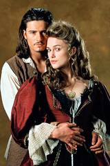Orlando Bloom og Keira Knightley i Pirates of the Caribbean: The Curse of the Black Pearl