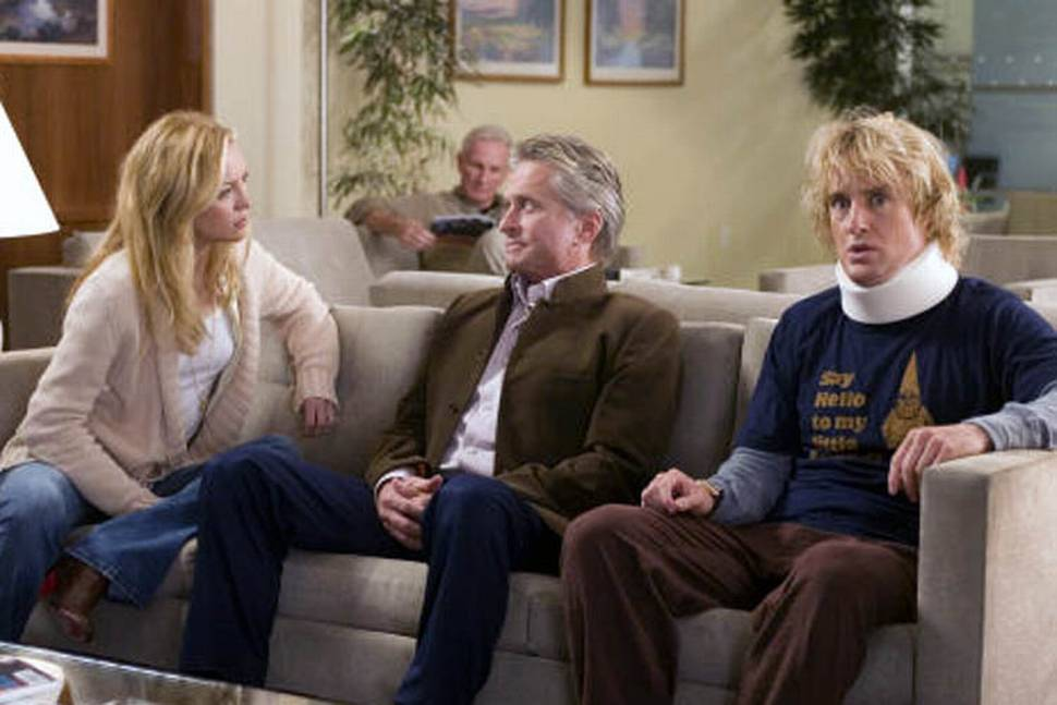 Kate Hudson (Molly Peterson), Mr. Thompson (Michael Douglas) og Randy Dupree (Owen Wilson).