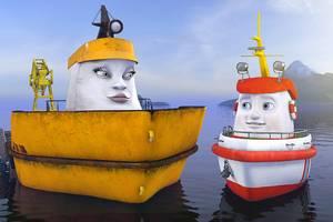 Supplybåten Berte vil trøste Elias og viser ham den flotte Kongshavna.