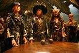 Keira Knightley, Geoffrey Rush og Johnny Depp i Pirates of the Caribbean - At World's End