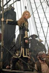 Keira Knightley spiller piratprinsessen Elizabeth Swann i Pirates of the Caribbean At Worlds End