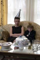Scarlett Johansson som Annie og Nicholas Reese Art som Grayer i The Nanny Diaries