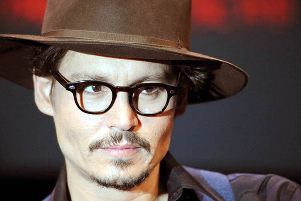 Johnny Depp på pressekonferanse for Sweeney Todd