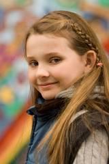 Den unge og dyktige skuespilleren Abigail Breslin (Maya Hayes) på settet i Helt sikkert, kanskje