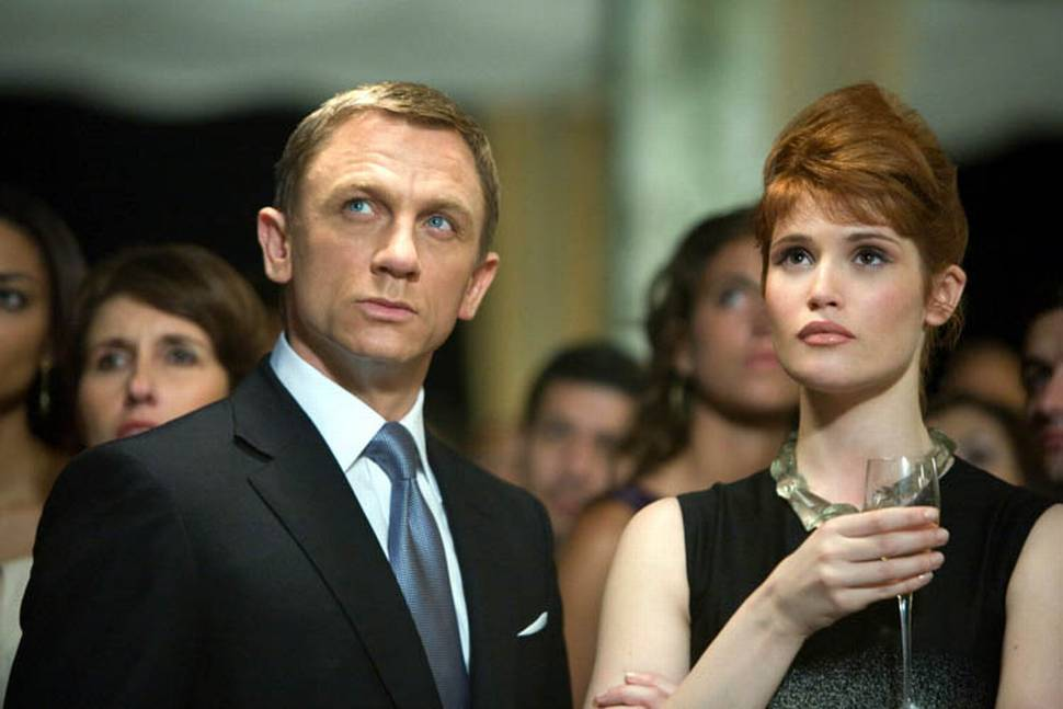 Daniel Craig og Gemma Arterton i James Bond; Quantum of Solace