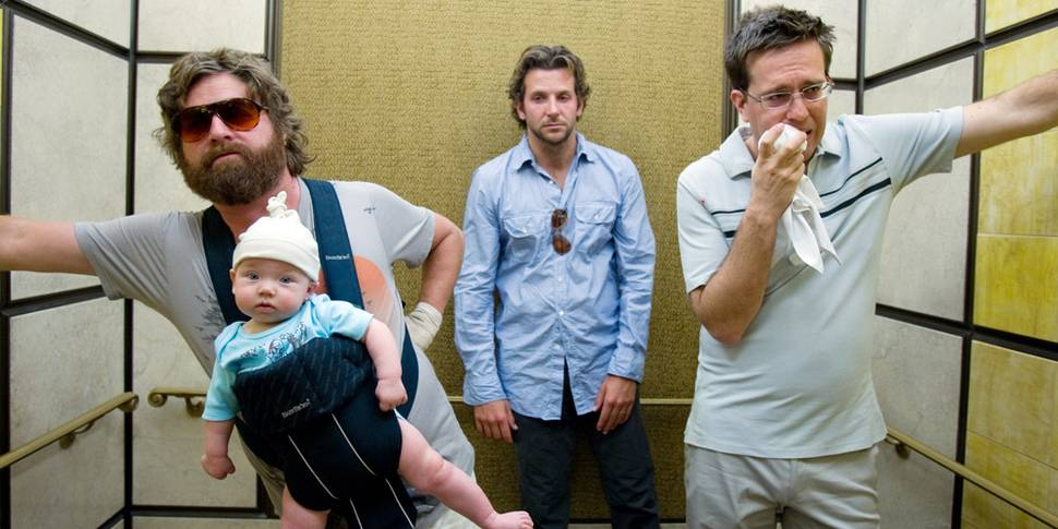 Zach Galifianakis, Bradley Cooper og Ed Helms i Hangover