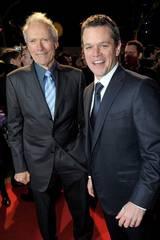 Clint Eastwood og Matt Damon på Invictus-premiere