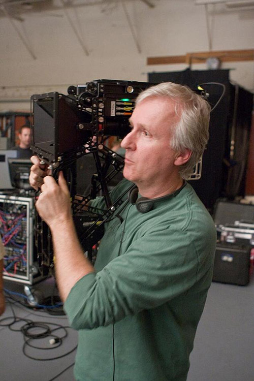 James Cameron med kamera under innspillingen av Avatar