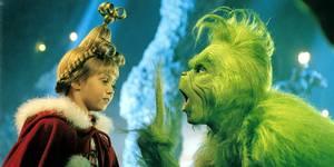 Taylor Momsen og Jim Carrey i Grinchen