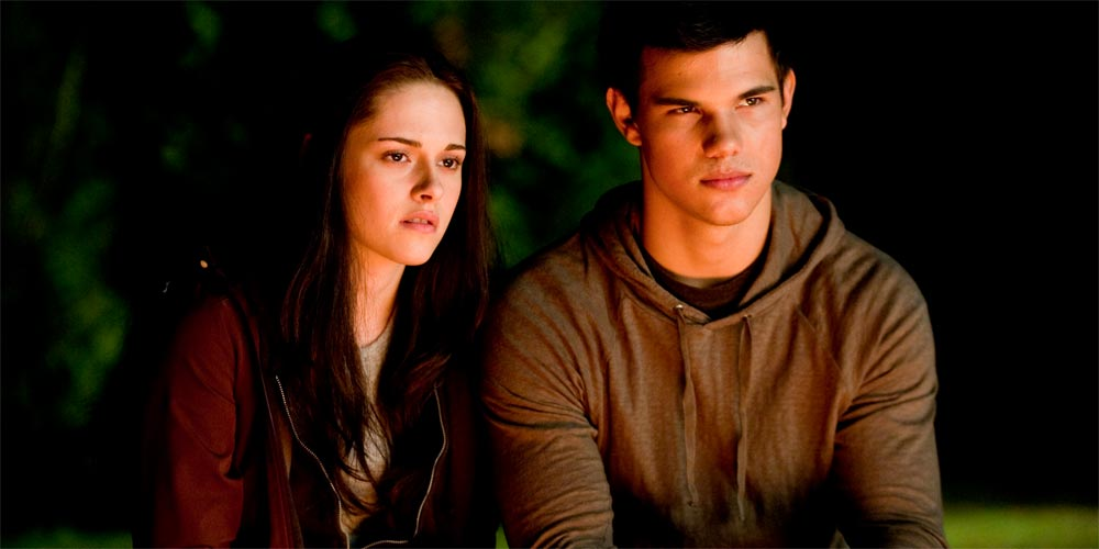 Kristen Stewart og Taylor Lautner i The Twilight Saga: Eclipse