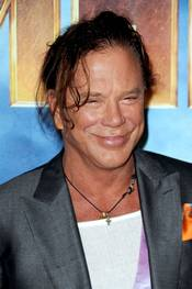 Mickey Rourke på Iron Man 2 photocall