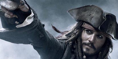 Johnny Depp som Jack Sparrow i Pirates of the Caribbean - At World's End