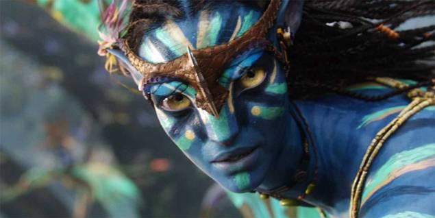 Zoe Saldana som Neytiri i Avatar