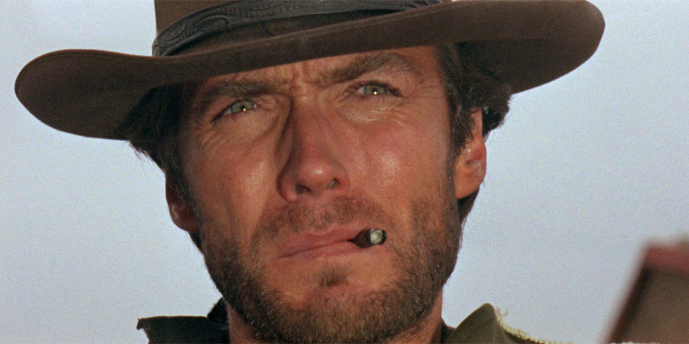 Clint Eastwood i For en neve dollars (A Fistful of Dollars)