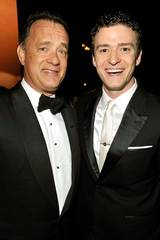 Tom Hanks og Justin Timberlake på Emmy Awards 2009