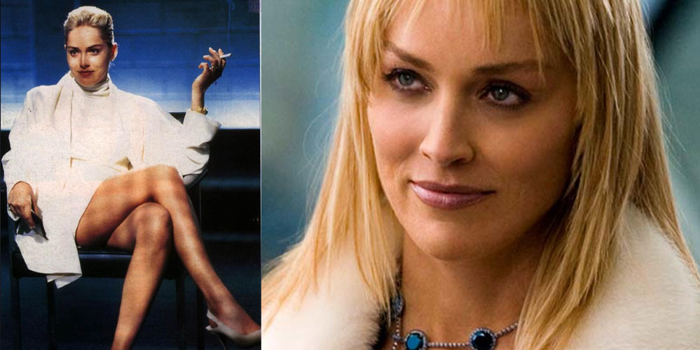 Sharon Stone som Catherine Tramell i Basic Instinct 1 og 2
