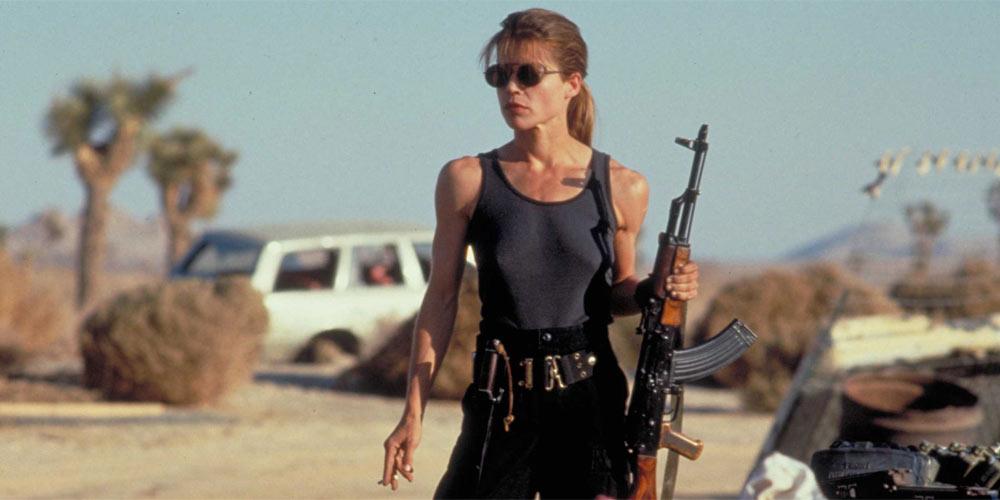 Linda Hamilton som Sarah Connor i Terminator 2