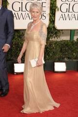 Elegante Helen Mirren ankommer Golden Globeutdelingen