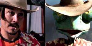 Johnny Depp gjør stemmen til kamelonen Rango