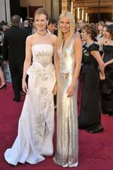 Nicole Kidman og Gwyneth Paltrow på Oscar-showet 2011