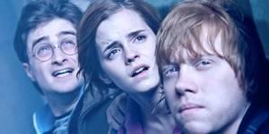 Daniel Radcliffe, Emma Watson og Rupert Grint i Harry Potter og Dødstalismanene - Del 2