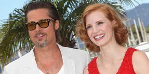 "Brad Pitt og Jessica Chastain i Cannes med filmen ""The Tree of Life"""