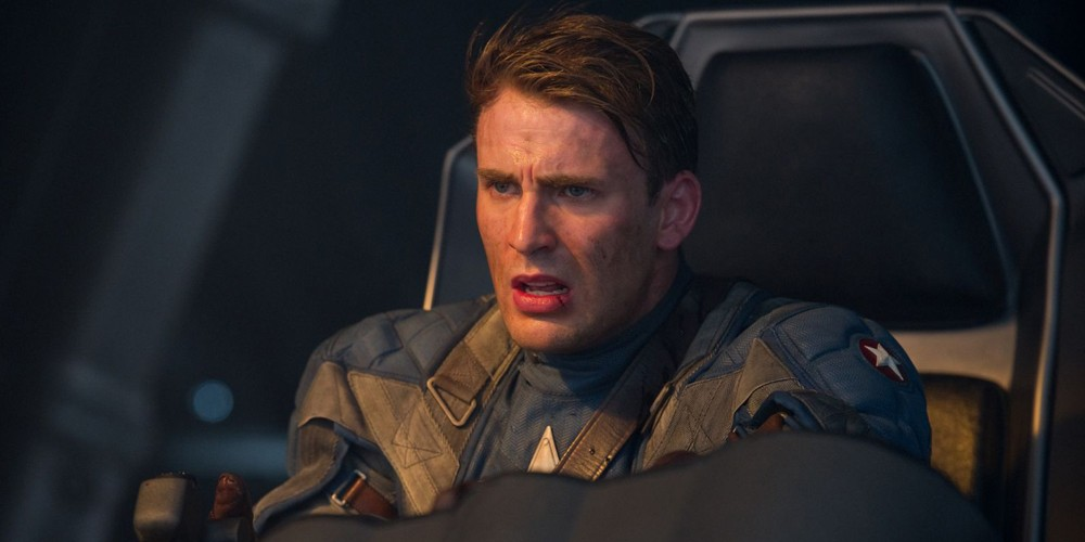Chris Evans som Steve Rogers i Captain America: The First Avenger