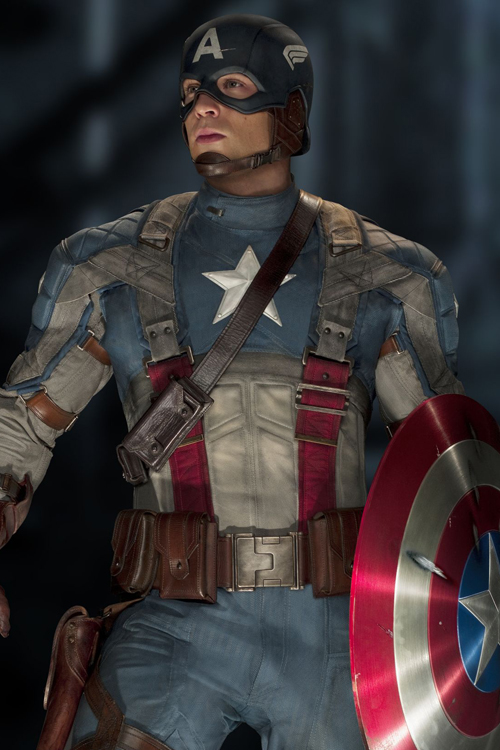 Chris Evans som Steve Rogers/Captain America