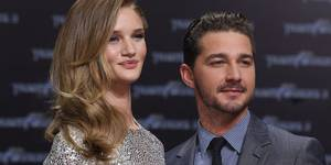 Rosie Huntington-Whiteley og Shia LaBeouf på Transformers 3-premiere i Berlin