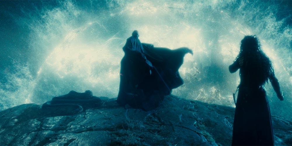 Ralph Fiennes og Helena Bonham Carter i Harry Potter og Dødstalismanene - Del 2