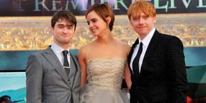 Daniel Radcliffe, Emma Watson og Rupert Grint på verdenspremieren til Harry Potter og Dødstalismanene - Del 2
