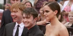 Ikke bare tårer for Rupert Grint, Daniel Radcliffe og en teatralsk Emma Watson