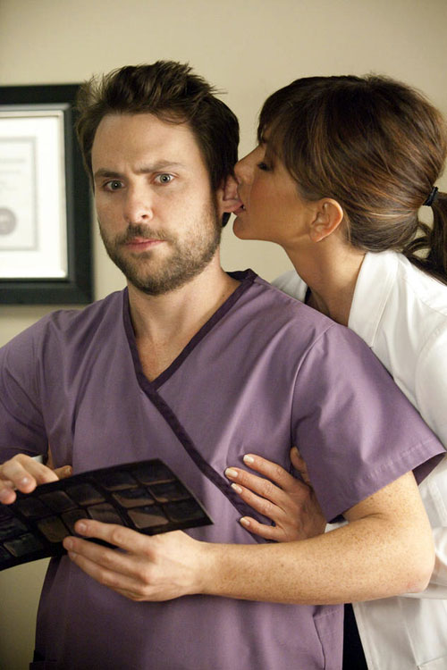 Charlie Day og Jennifer Aniston i Horrible Bosses