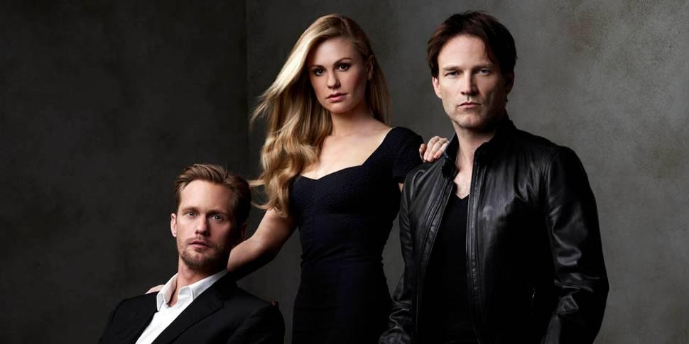 Alexander Skarsgård, Anna Paquin og Stephen Moyer i True Blood - Sesong 4