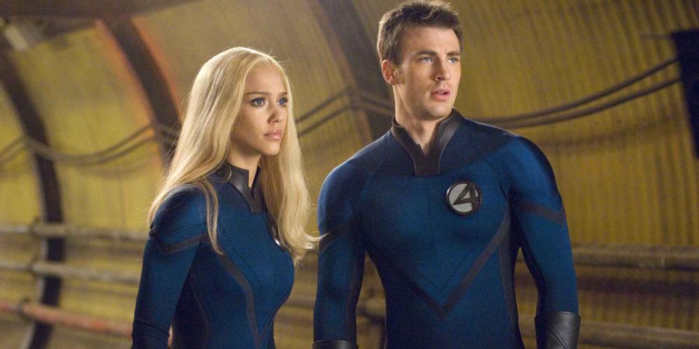 Jessica Alba og Chris Evans i Fantastic Four