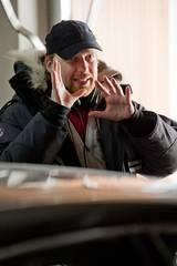 Regissør Morten Tyldum på settet til Hodejegerne
