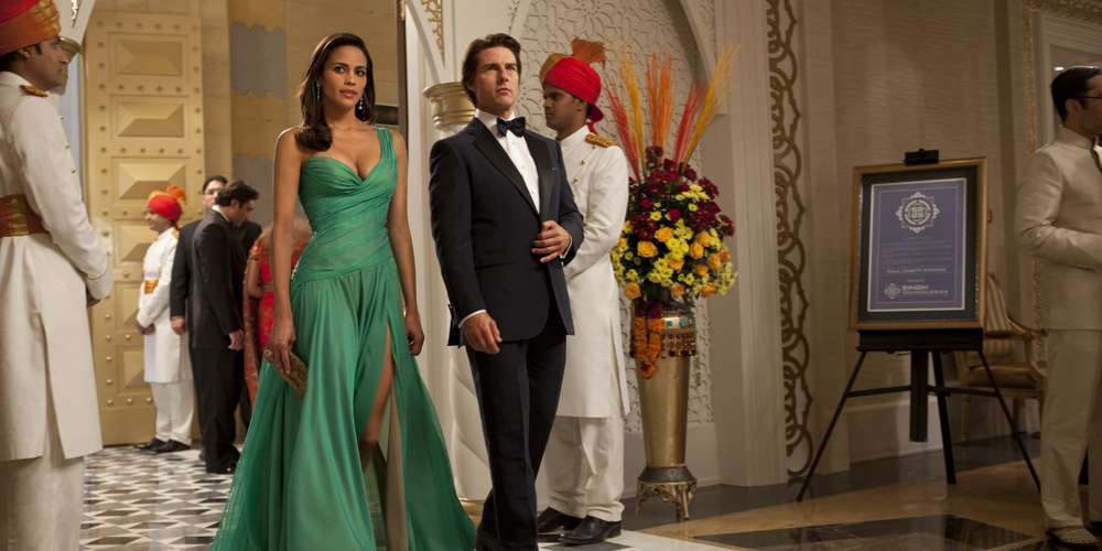 Paula Patton og Tom Cruise i Mission: Impossible - Ghost Protocol