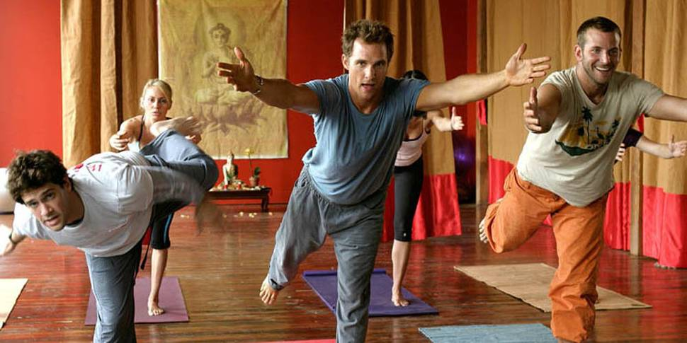 Tid for yoga for Justin Bartha, Matthew McConaughey og Bradley Cooper i Mamba