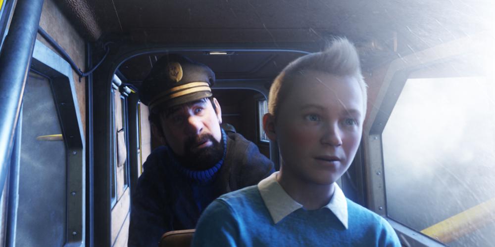 Kaptein Haddock og Tintin flyr