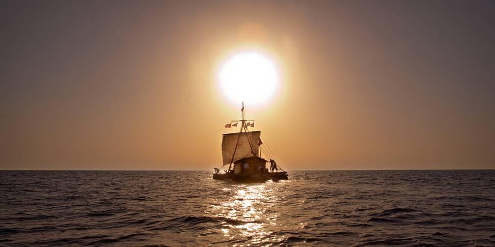 Kon-Tiki i solnedgang