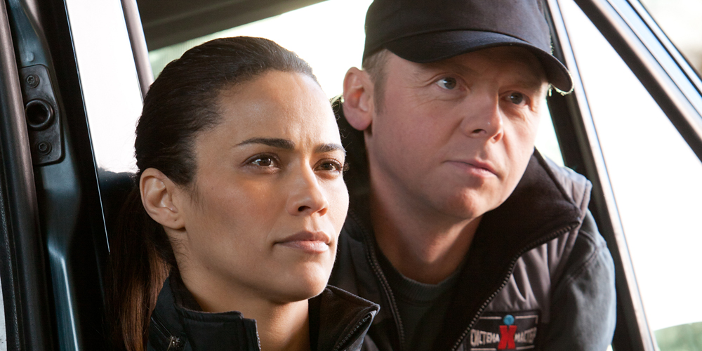 Paula Patton og Simon Pegg i Mission: Impossible: Ghost Protocol